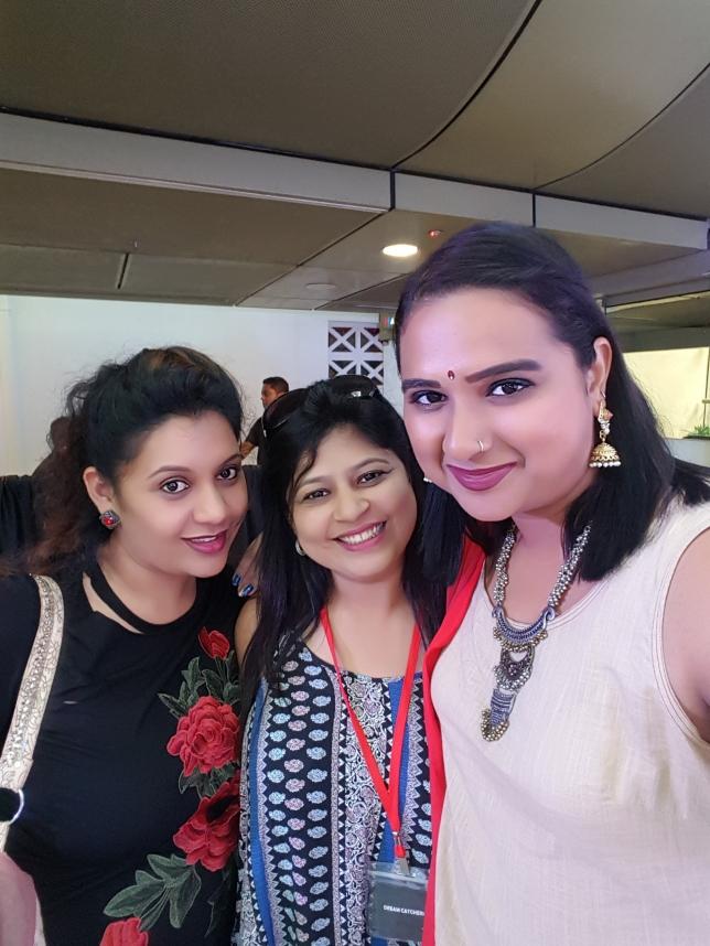 With Madhurima and Bhagyashree