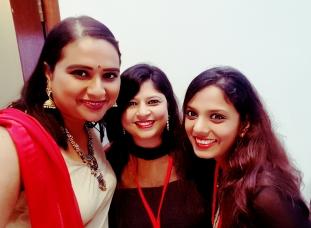 With Bhagyashree and Payal