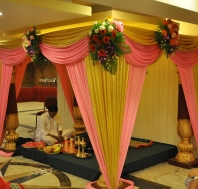 The beautiful mandap