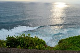 Watching the shores from the top of the cliff..