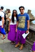 With Sarongs :)