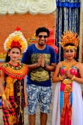 With the traditional dancers